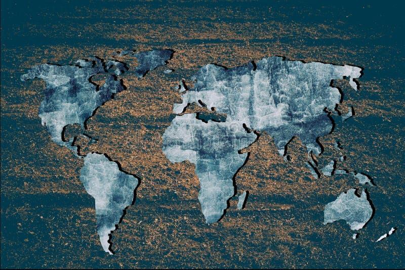 Mapa del mundo con fondo mural, esbozado en líneas generales imagenes de archivo