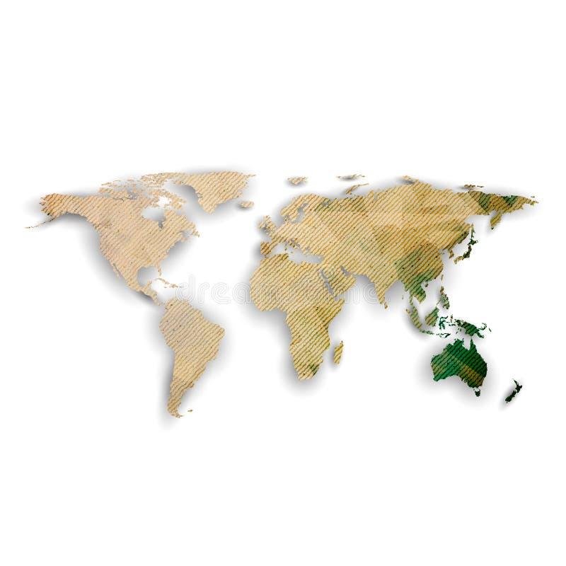 Mapa del mundo con la sombra, vector texturizado del diseño libre illustration