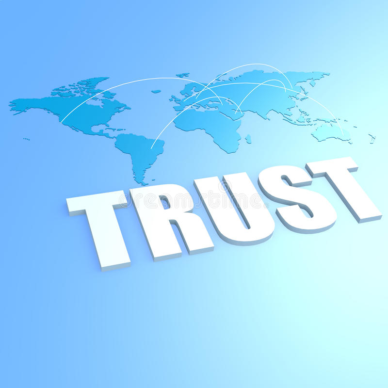 Mapa del mundo de la confianza libre illustration