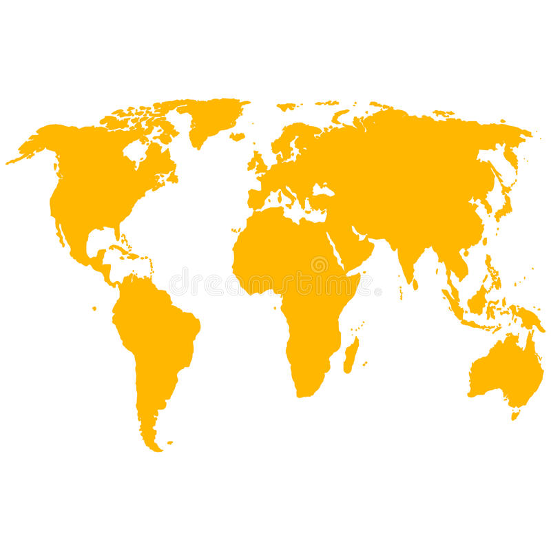 Mapa del mundo de la silueta Ilustración del vector ilustración del vector