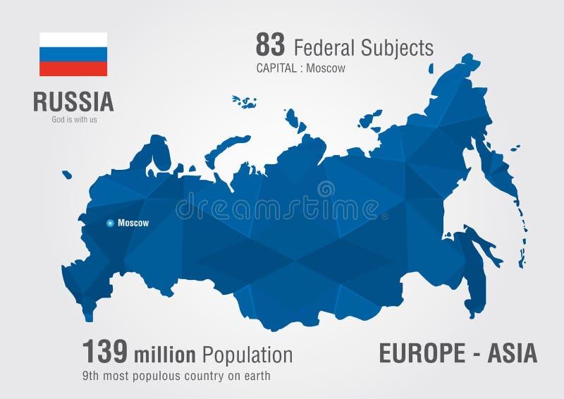 Download Mapa Del Mundo De Rusia Con Un Modelo Del Diamante Del Pixel Ilustración del Vector - Ilustración de fondo, ruso: 42431782