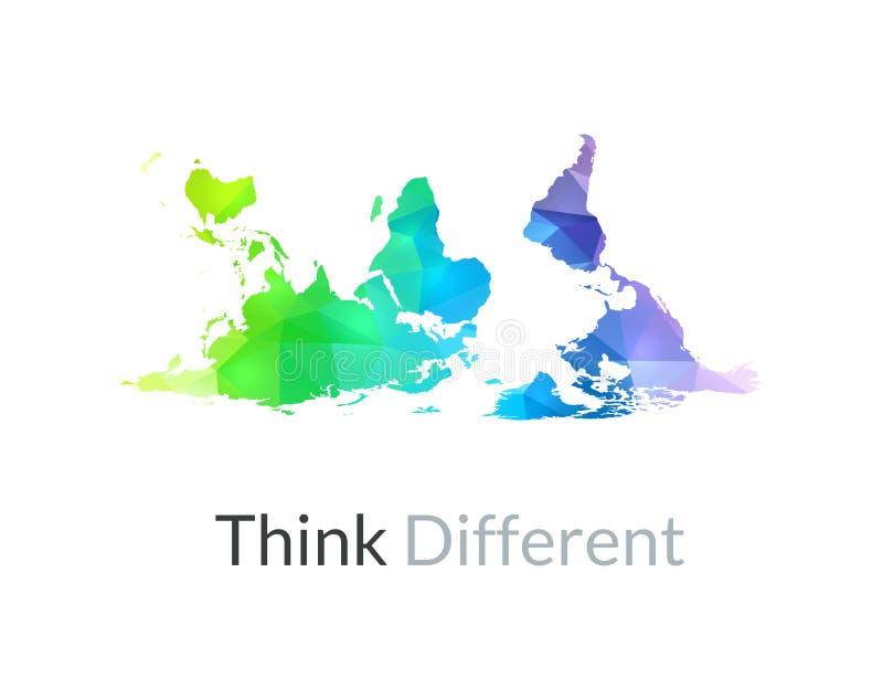 Mapa del mundo del color del arco iris libre illustration