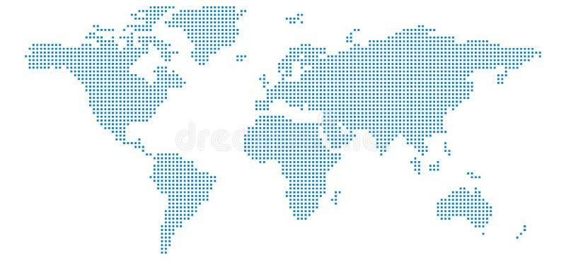 Mapa del mundo del pixel stock de ilustración