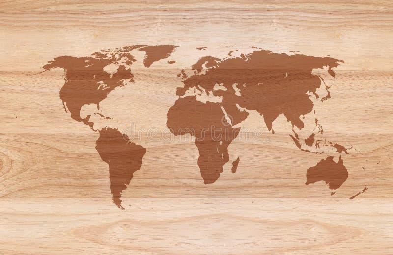 mapa del mundo en fondo de madera foto de archivo imagen. Black Bedroom Furniture Sets. Home Design Ideas