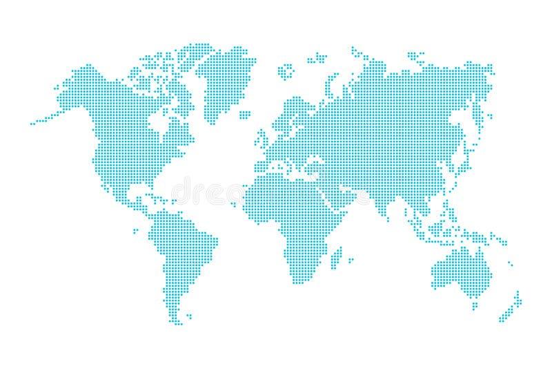 Mapa del mundo (estilo punteado) stock de ilustración