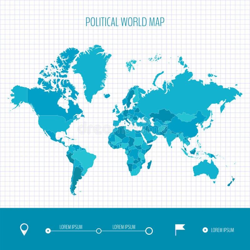 Mapa del mundo infographic Ilustración del vector ilustración del vector