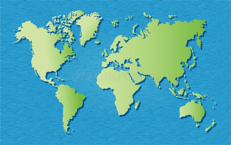 Mapa del mundo RGB ilustración del vector