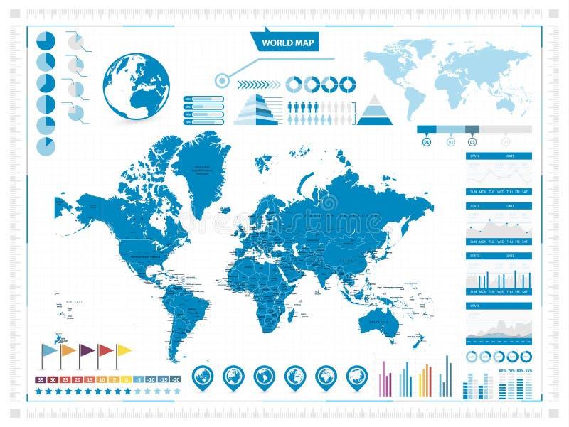 Mapa del mundo y elementos infograpchic proyeccin de mercator download mapa del mundo y elementos infograpchic proyeccin de mercator ilustracin del vector ilustracin de gumiabroncs Choice Image