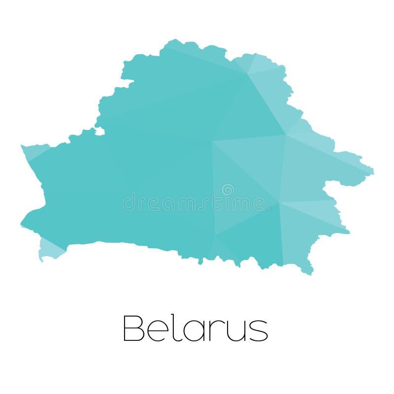 Mapa del país de Bielorrusia fotografía de archivo libre de regalías