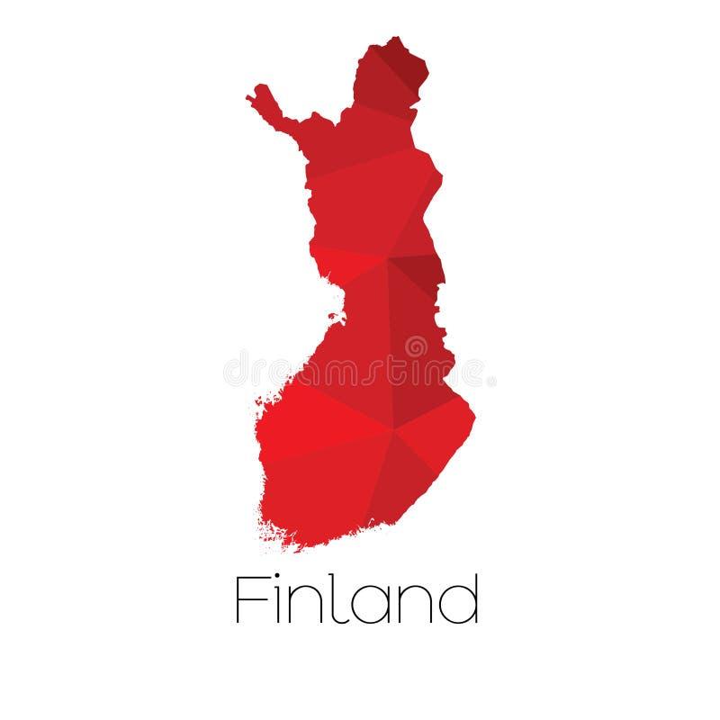 Mapa del país de Finlandia fotos de archivo