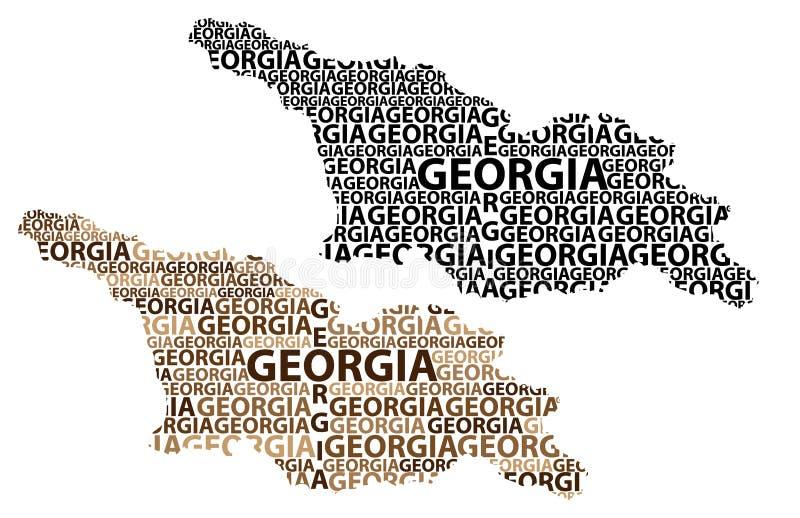 Mapa del país de Georgia - ejemplo del vector stock de ilustración