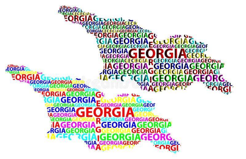 Mapa del país de Georgia - ejemplo del vector ilustración del vector