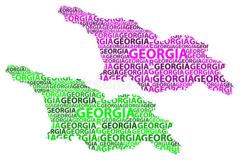 Mapa del país de Georgia - ejemplo del vector libre illustration