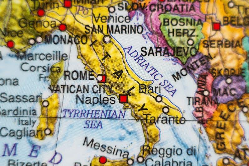 Mapa del país de Italia imágenes de archivo libres de regalías