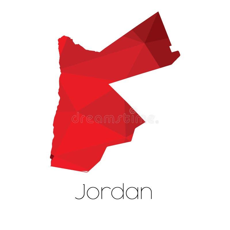 Mapa del país de Jordania foto de archivo