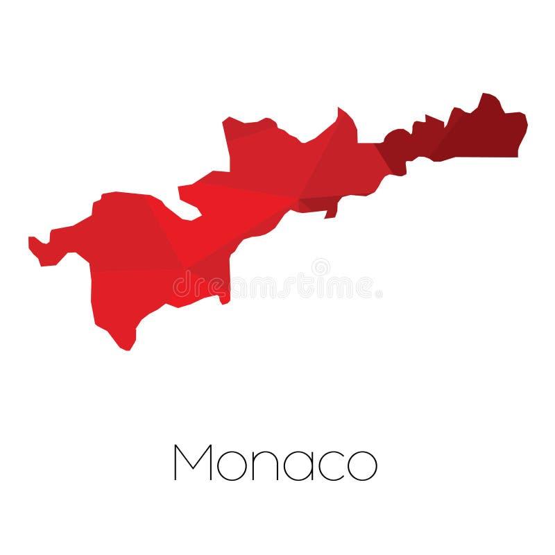 Mapa del país de Mónaco fotos de archivo libres de regalías