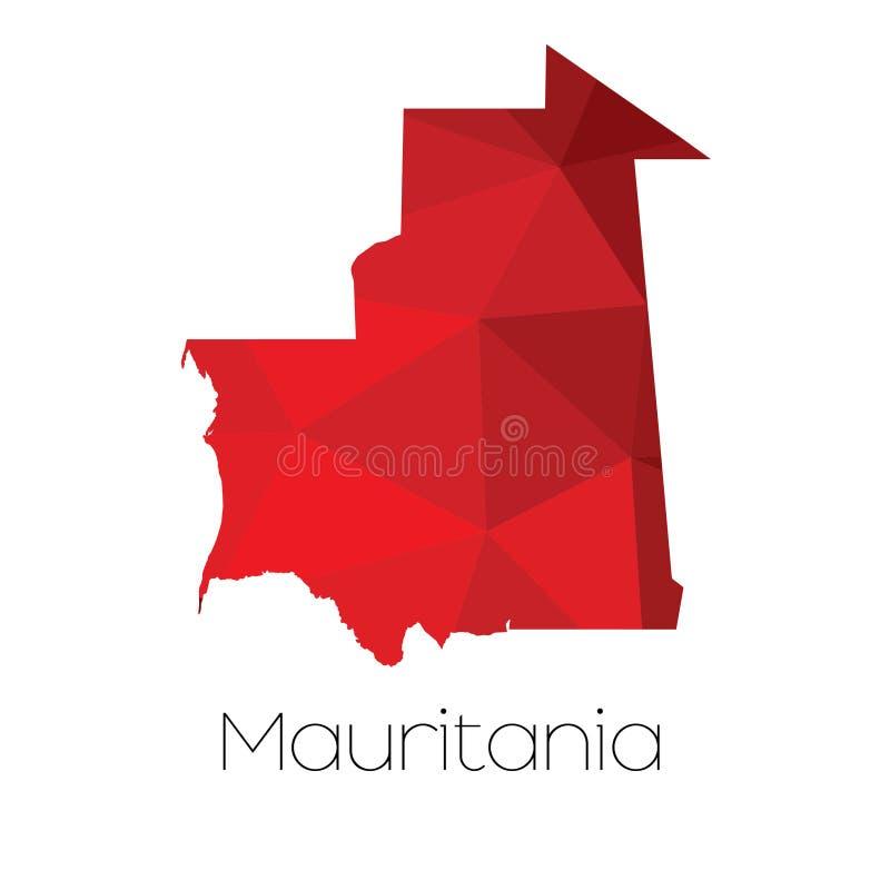 Mapa del país de Mauritania fotos de archivo libres de regalías
