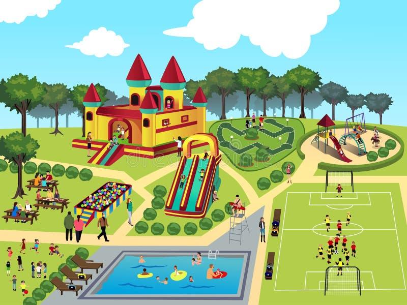 Mapa del patio ilustración del vector