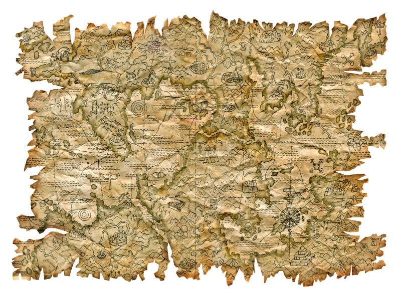 Mapa del pirata imagenes de archivo