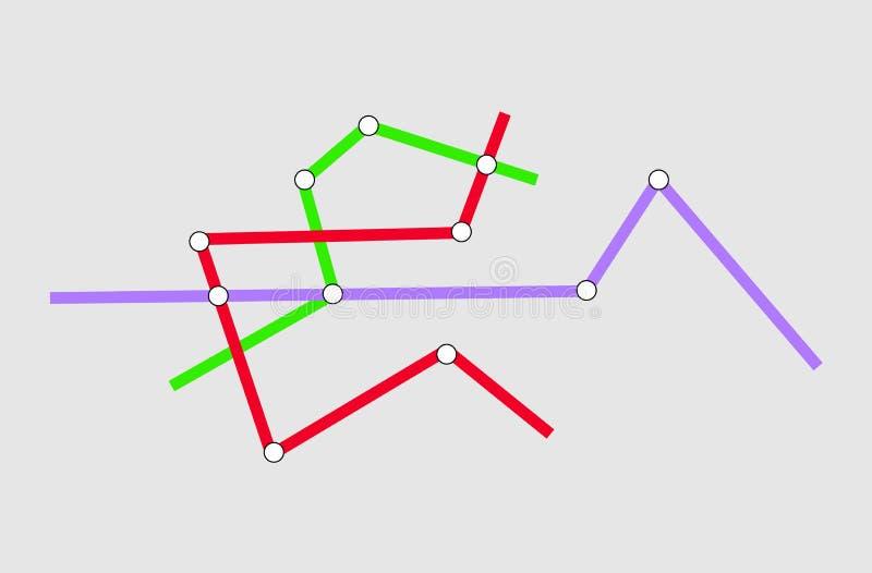 Mapa del subterr?neo del metro Vector EPS 10 ilustración del vector