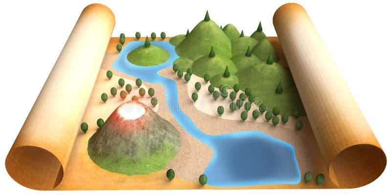 Mapa del terreno ilustración del vector
