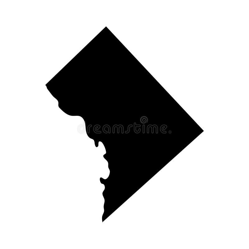 Mapa del U S Distrito Columbia ilustración del vector