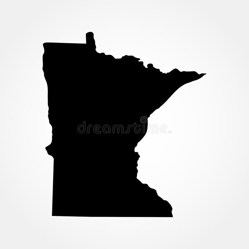 Mapa del U S Estado de Minnesota ilustración del vector