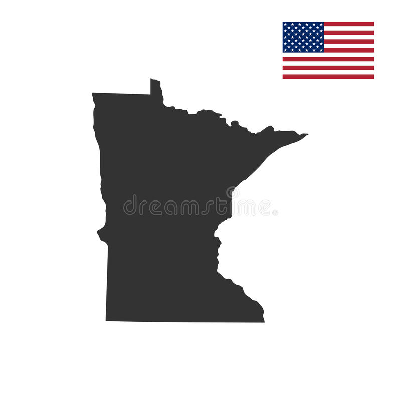Mapa del U S Estado de Minnesota libre illustration