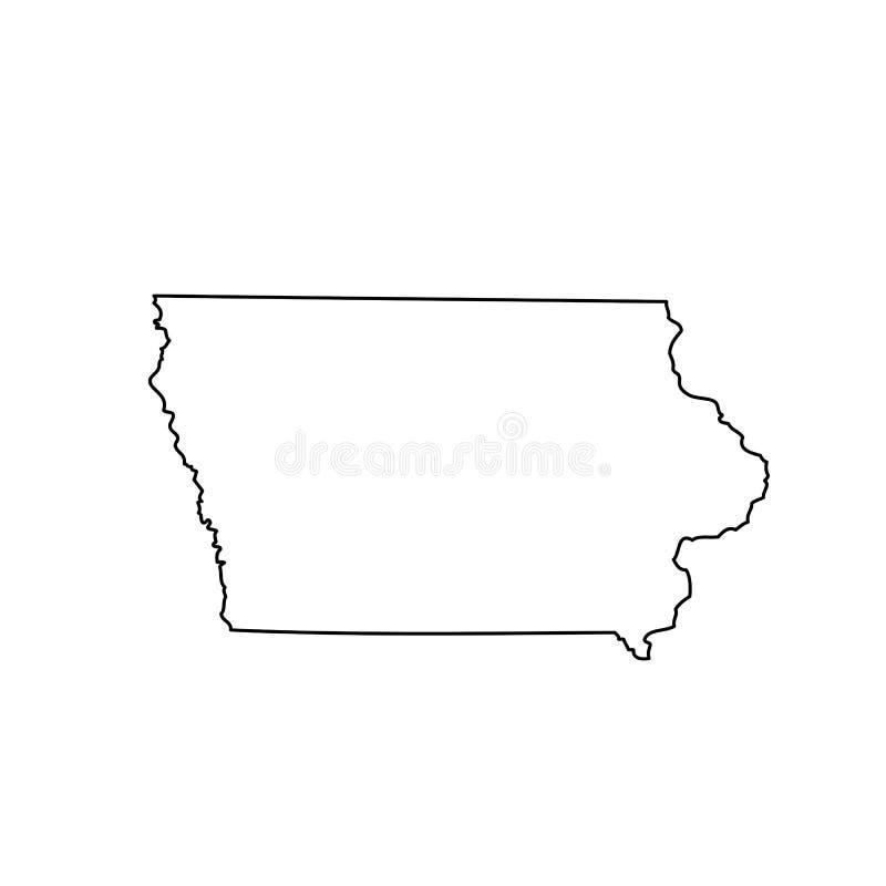 Mapa del U S estado Iowa ilustración del vector