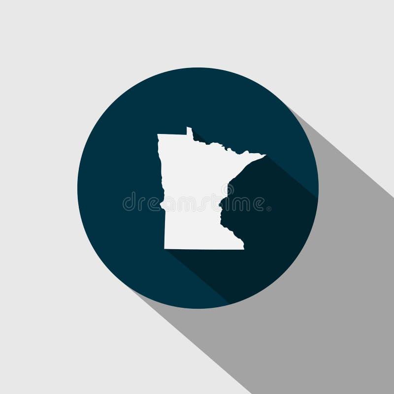 Mapa del U S estado Minnesota stock de ilustración