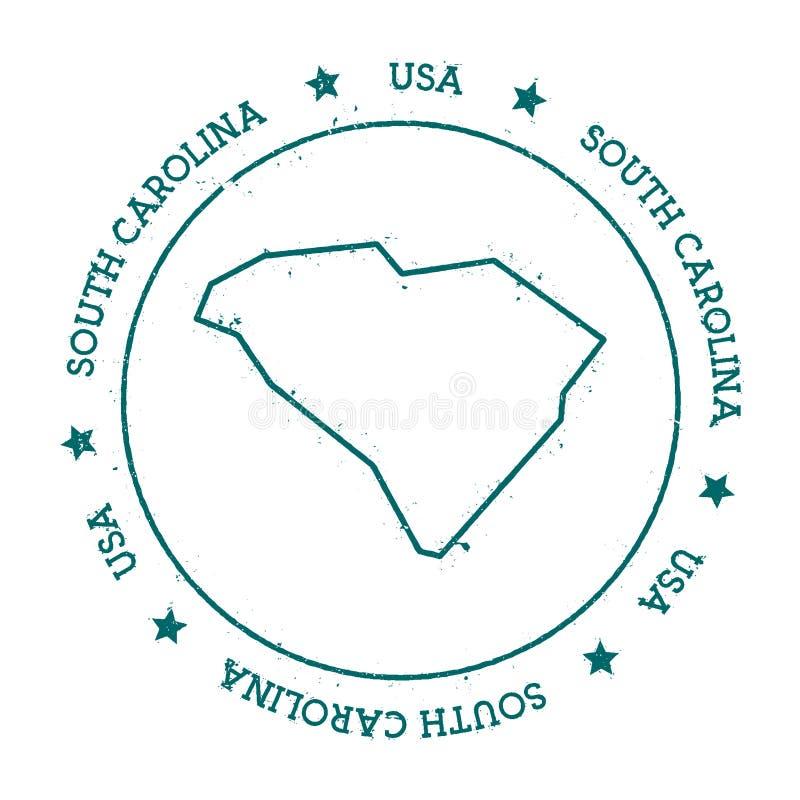 Mapa del vector de Carolina del Sur stock de ilustración