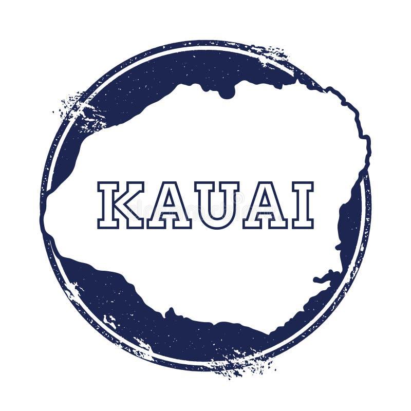 Mapa del vector de Kauai stock de ilustración