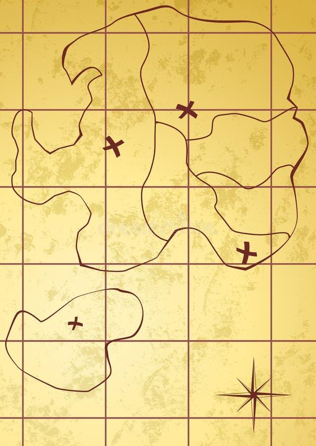Mapa del vector de la isla del tesoro libre illustration