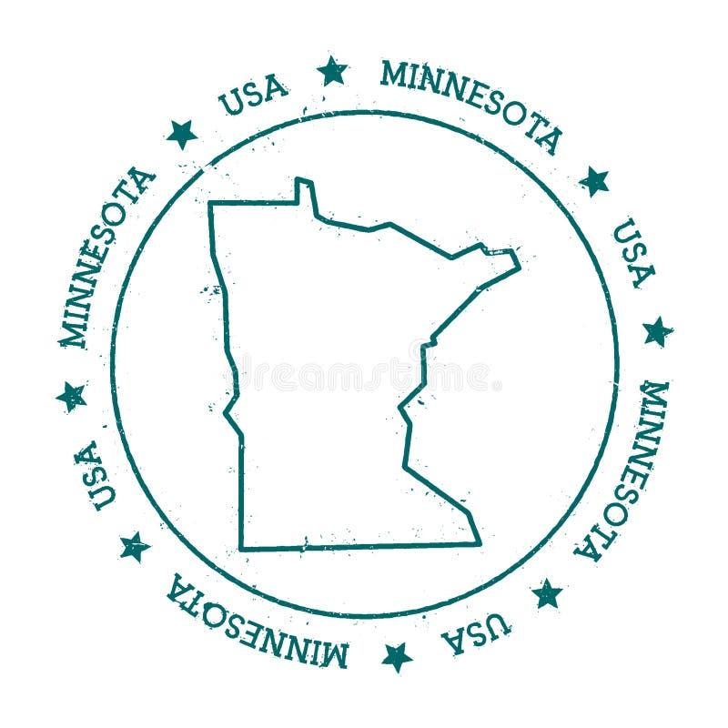 Mapa del vector de Minnesota stock de ilustración