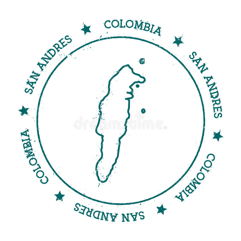 Mapa del vector de San Andres stock de ilustración