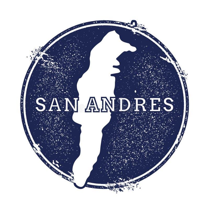 Mapa del vector de San Andres libre illustration