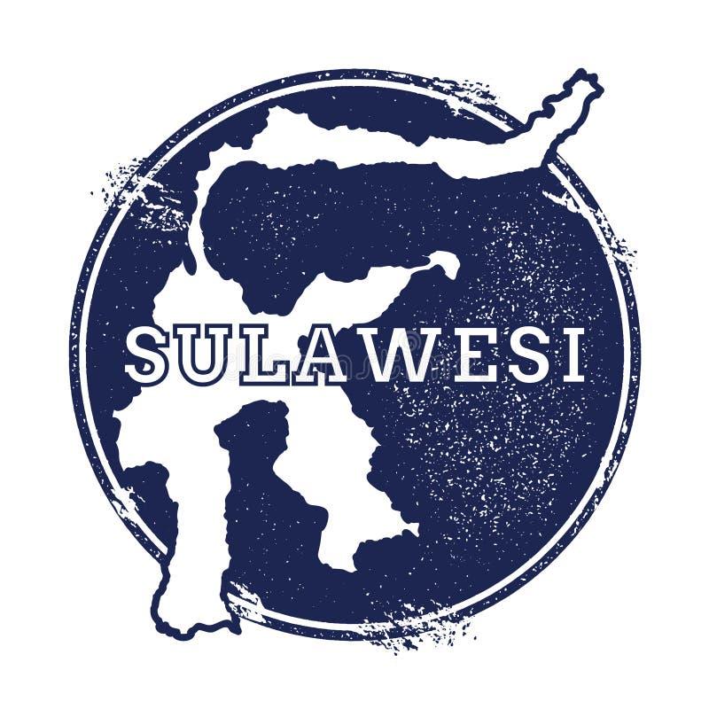 Mapa del vector de Sulawesi stock de ilustración