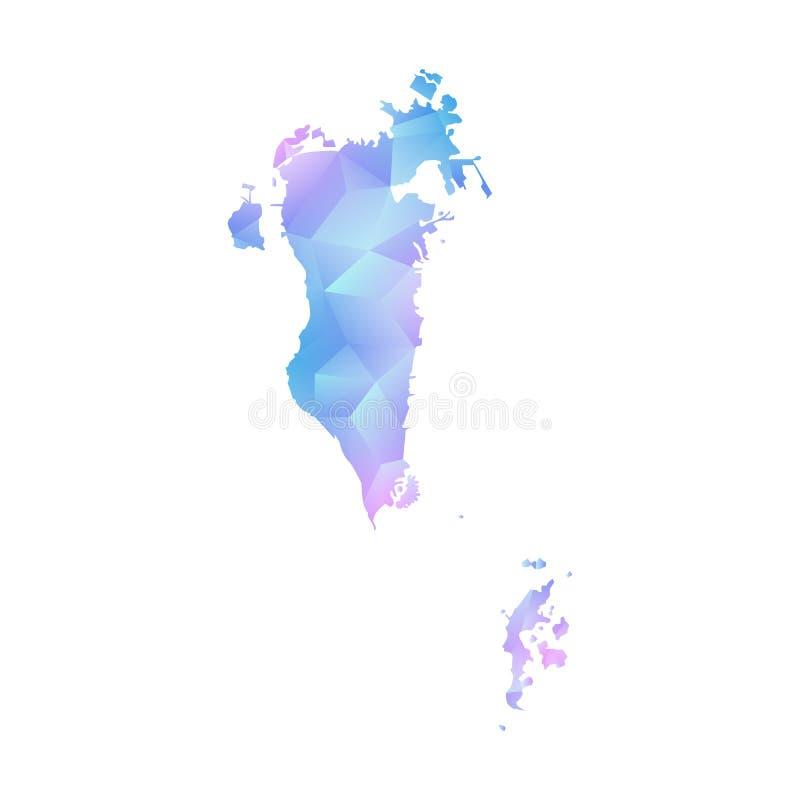 Mapa del vector del polígono de Bahrein ilustración del vector