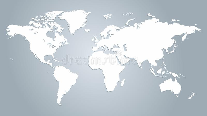 Mapa del vector del mundo ilustración del vector