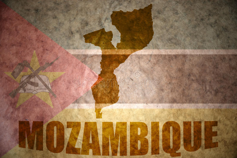 Mapa del vintage de Mozambique fotografía de archivo