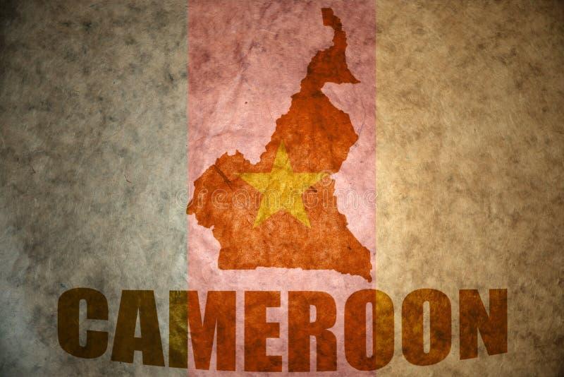 Mapa del vintage del Camerún fotografía de archivo