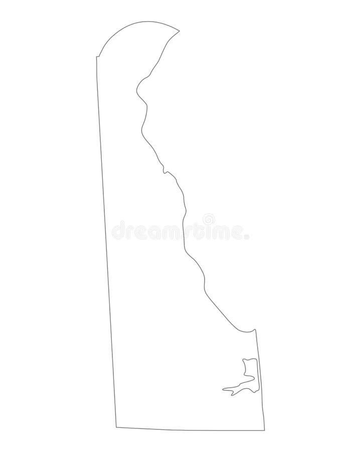 Mapa Delaware ilustracja wektor