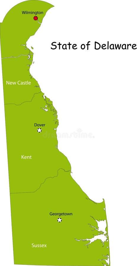 Mapa Delaware stan ilustracji