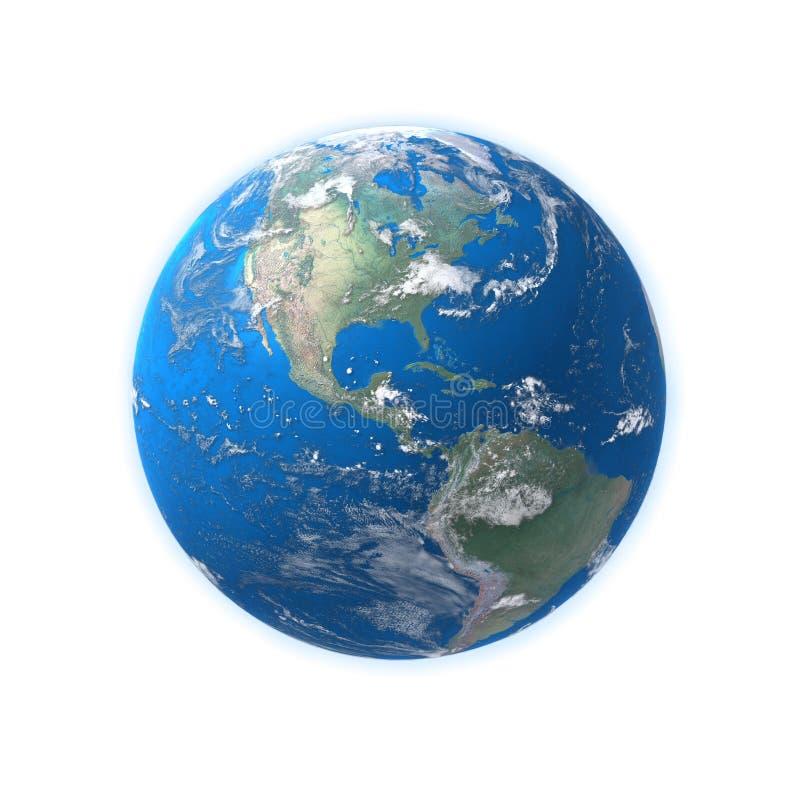 Mapa detalhado elevado da terra, América imagem de stock