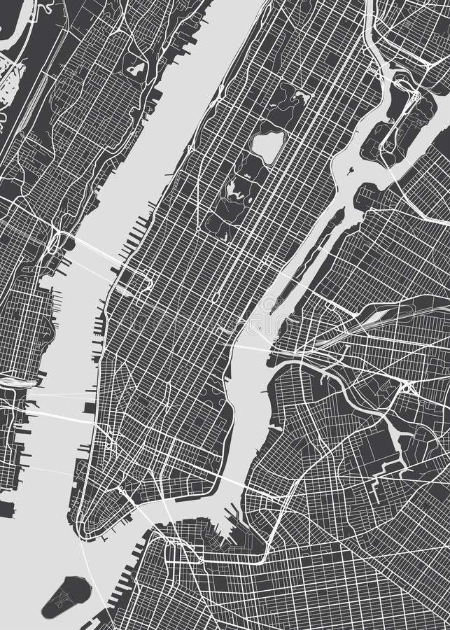 Mapa detalhado New York do vetor ilustração royalty free