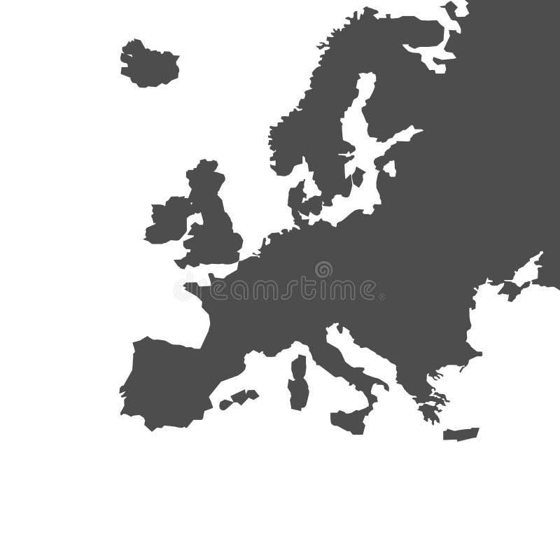 Mapa detallado de la Europa - vector del vector libre illustration