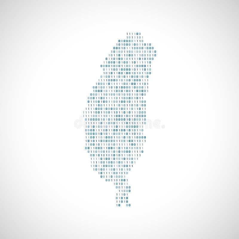 Mapa digital binario de Taiwán libre illustration