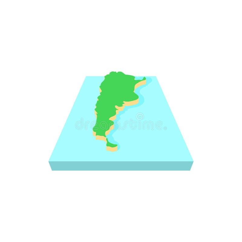 Mapa do ícone de Argentina, estilo dos desenhos animados ilustração stock