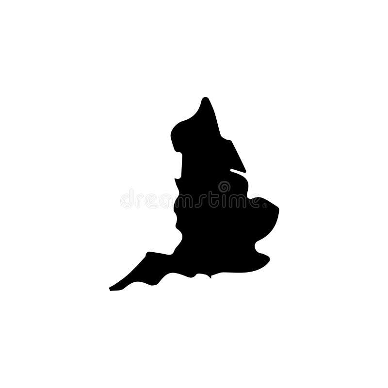 mapa do ícone de Inglaterra ilustração stock