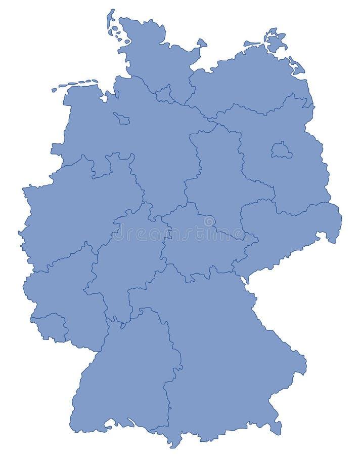 Mapa do alemão no azul